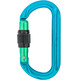 AustriAlpin Ovalo Edition Screwgate Carabiner blue-green anodized